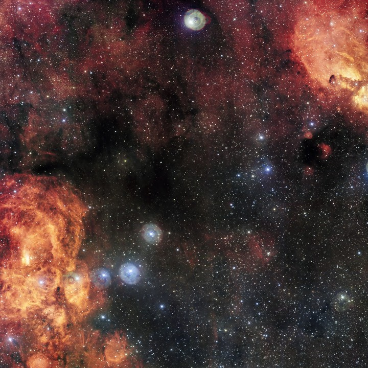 Cat's Paw and Lobster Nebulae
